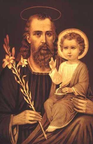 JESÚS, CON SU PADRE. SAN JOSÉ EL ELEGIDO POR DIOS PARA CUIDAR A MARIA Y AL NIÑO