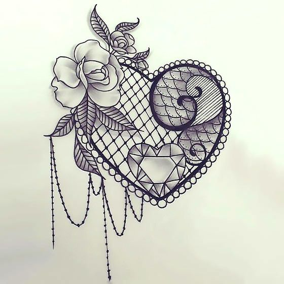 Best 25 Lace Tattoo Heart Ideas On Pinterest Lace Tattoo Realistic Rose Tattoo And Chest