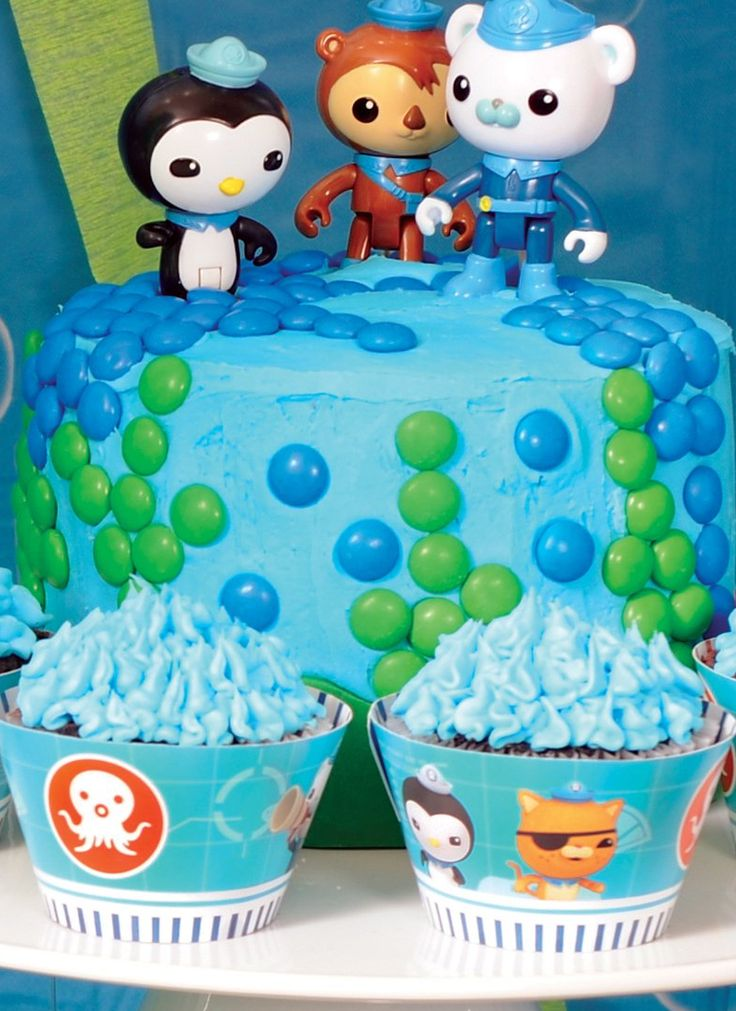 Loving this #Octonauts birthday cake with toppers #BirthdayExpress