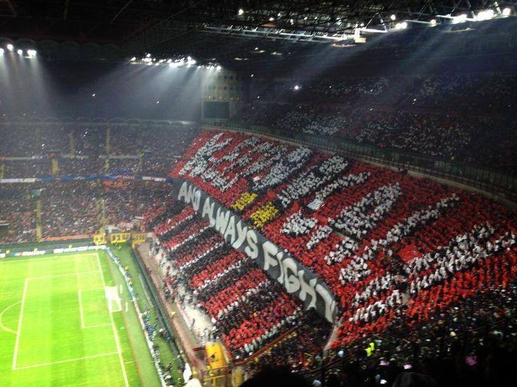 Una cartolina da Milano; A.C. Milan vs Barcellona #ultras