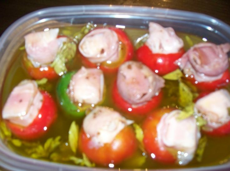 Pickeled Stuffed Cherry Hot Peppers