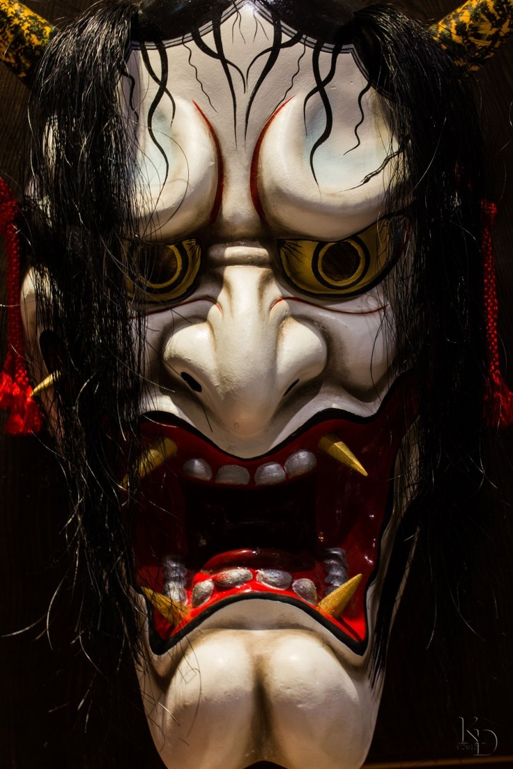 Japanese Noh Hannya Mask. This is pretty cool but may also give me nightmares...