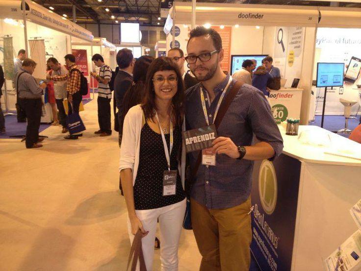 Con mi amiga Lorena Molinero en eShow'12