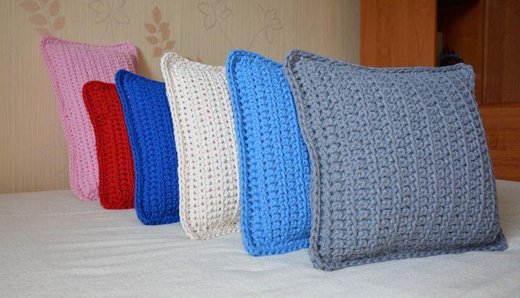 poduszka z bawełnianego sznurka - Justyna-Stania - Poduszki