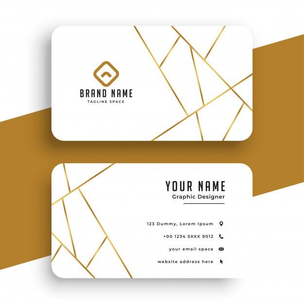 Download Elegant White And Gold Business Card Template For Free Modern Business Cards Free Business Card Templates Business Cards Layout