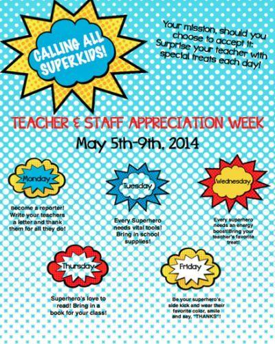 Teacher Appreciation Week 2014