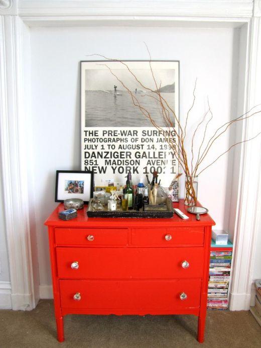 Die besten 25+ Rot lackierte kommoden Ideen auf Pinterest Rot - schlafzimmer orange