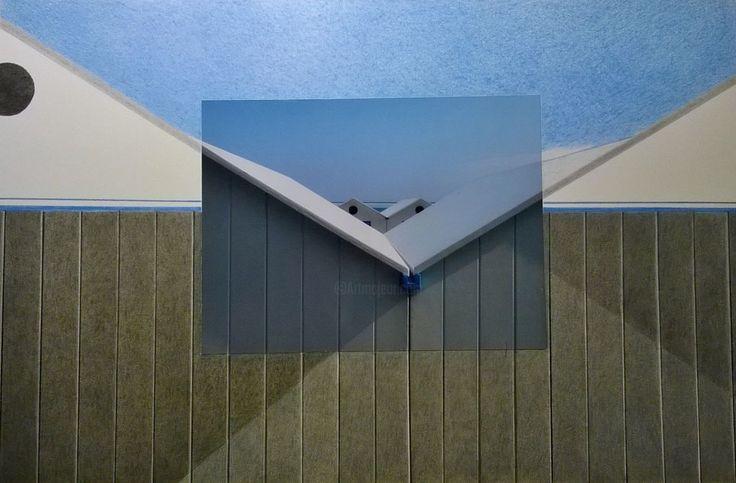 Architettura ir-reale - Dessin,  29,5x19 cm ©2014 par Massimo Premoli -                              Papier, Architettura, Paesaggio Urbano, Colore, Fotografia, Disegno