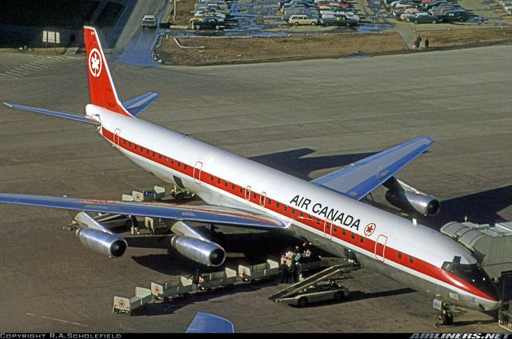 Douglas DC-8-63 aircraft picture. Flew to Canada from Lisbon in one of these. With CP Air though.
