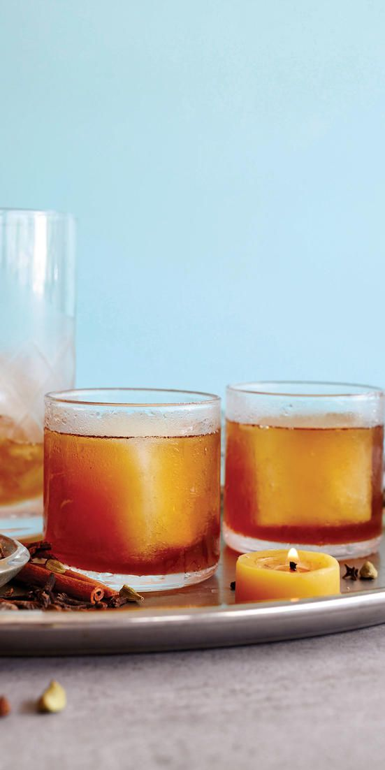 Your holiday party guests will love this (not boring) cocktail that's made with better-for-you ingredients like fresh ginger, maple syrup, and coconut sugar.