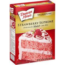 Duncan Hines Signature Strawberry Supreme Cake Mix 16.5 oz Box