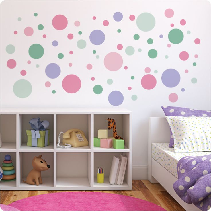 Best 25 polka dot wall decals ideas on pinterest polka for Polka dot living room ideas