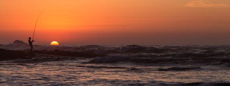Fisherman at Sunset 3 by KIEzuZ on 500px #portugal #twilight #beach #summer