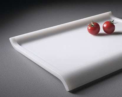 ES Sloped Cutting Board. The Slope Provides Run Off For Liquids Into A  Collection Drain