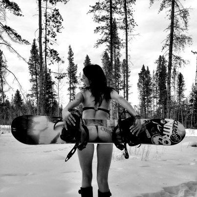 Girls showing asshole in the snow