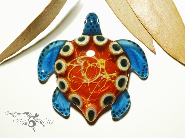 Glass art portfolio flameworked jewelry blown glass pendants golden mother earth turtle pendant glass by creativeflowglass turtle blownglasspendant universe gift mozeypictures Images