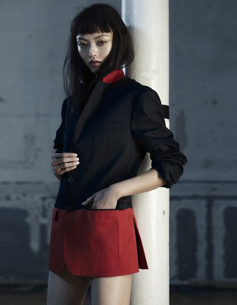 Japanese Model/Actress Rila Fukushima, who starred with Hugh Jackman in the movie  ''The Wolverine'' 2013.