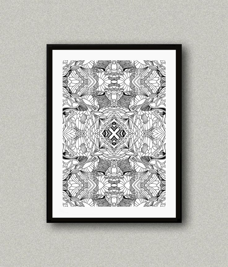 BW002, Abstract art print, Art poster, Modern art decor, Home decor, Wall art, Drawing art, Psychedelic Art Poster by WhitePaperArt on Etsy