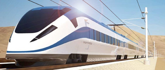 New high speed train from California to Las Vegas.