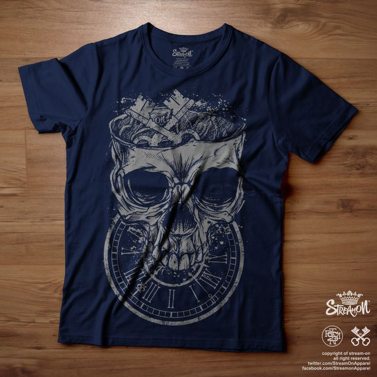 #ON Graphic Tee - Clock Skull IDR. 99.000 Text to +62-85717545028 https://facebook.com/StreamonApparel https://twitter.com/StreamOnApparel