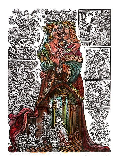 Zdeněk Mézl - Kolorované dřevoryty ::: III ::: Galerie ART Chrudim