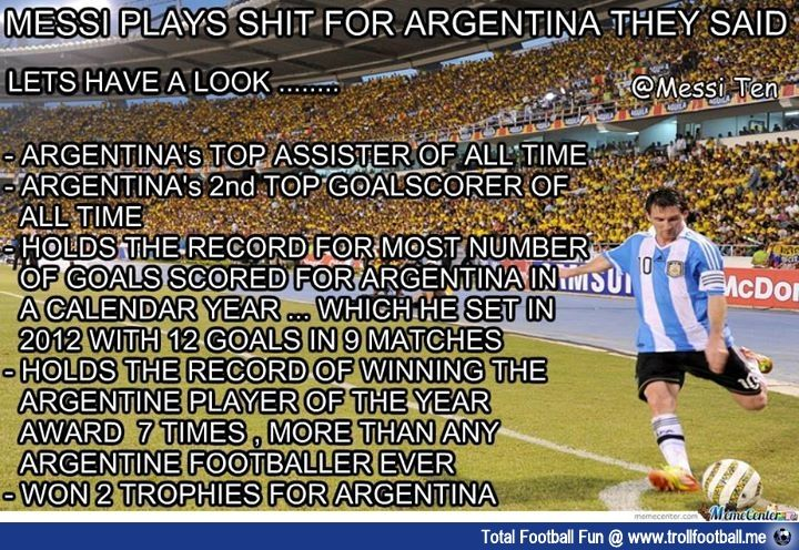 Some Messi stats for Argentina National TEAM  #football #soccer #Trollfootball #LionelMessi #Messi #Argentina #LM10