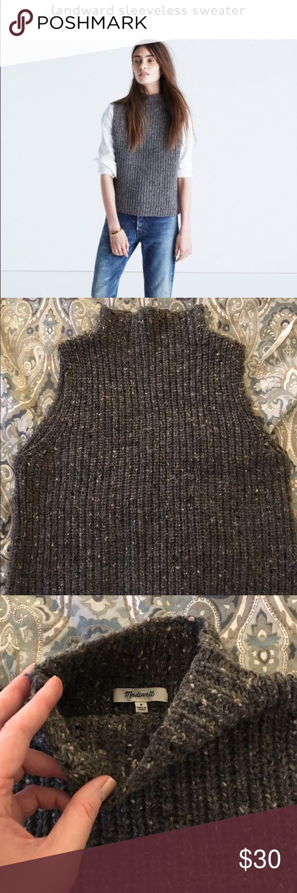 Madewell sleeveless sweater Madewell sleeveless sweater in dark grey. Excellent condition. Worn only once. Size M Madewell Sweaters