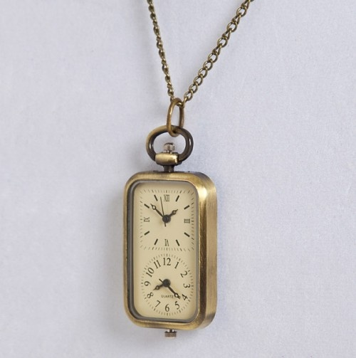 Dual Face Pendant Watch