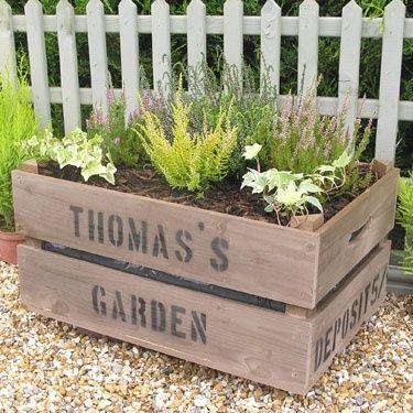 Great idea for the patio garden!