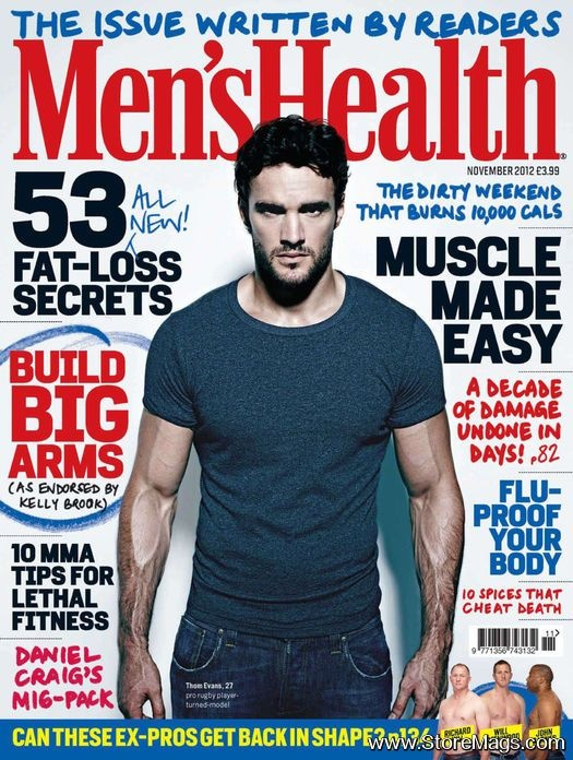 Men's Health Magazine Cover [United Kingdom] (November 2012)