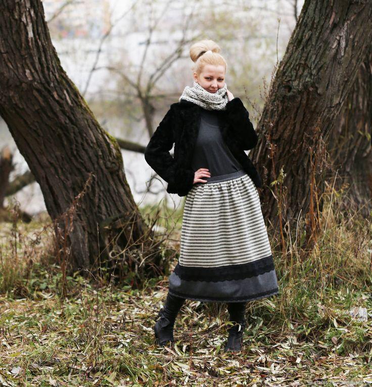 Купить Шерстяная юбка на зиму в интернет магазине на Ярмарке Мастеров