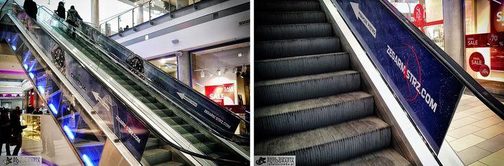 Cześć, tak wygląda nasza reklama na schodach w Galerii Kazimierz w Krakowie.