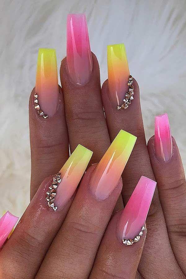 77 Bright Neon Nails To Try This Summer Neon Nails Yellow Nails Yellow Nail Art
