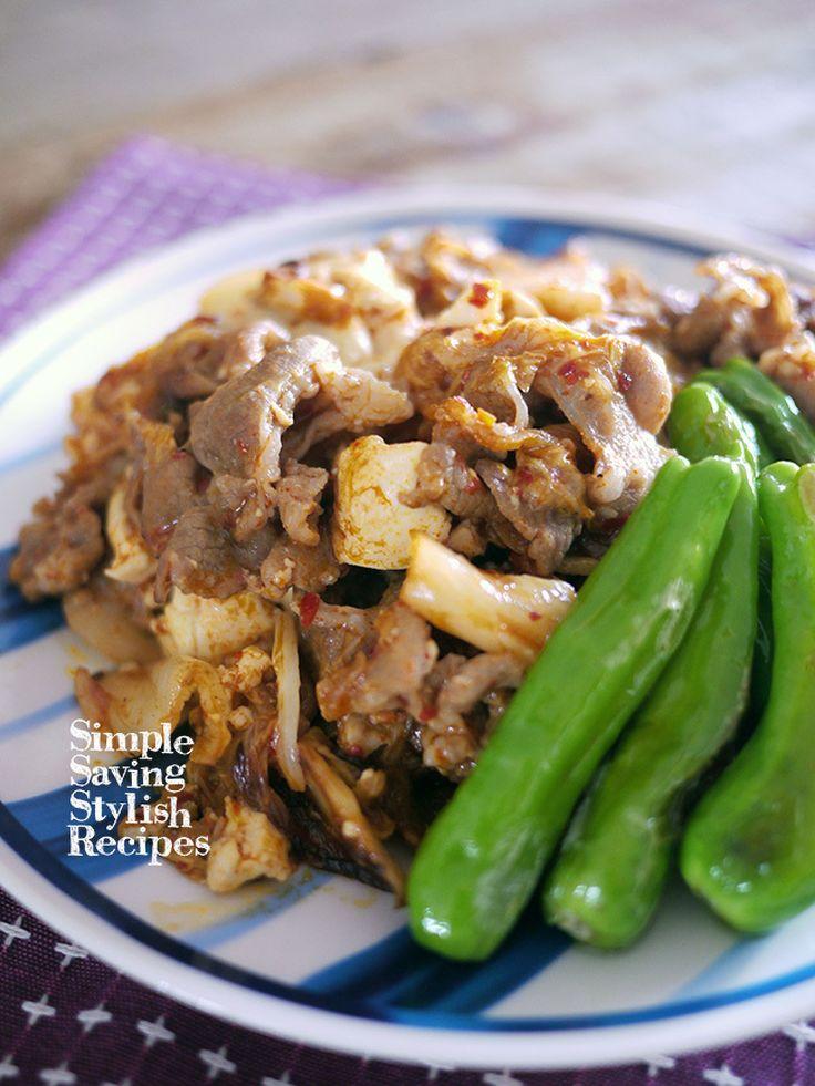 節約でスタミナもUPでヘルシー!味付け不要!豚キムチの肉豆腐 by SHIMA /…