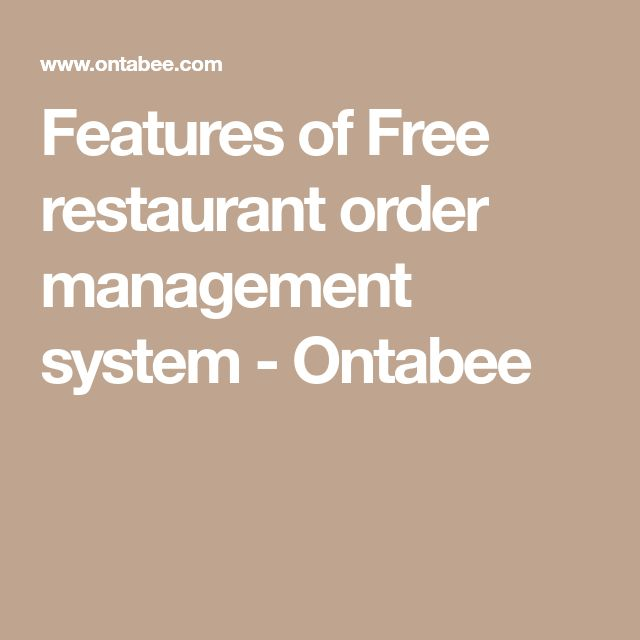 Features of Free restaurant order management system - Ontabee
