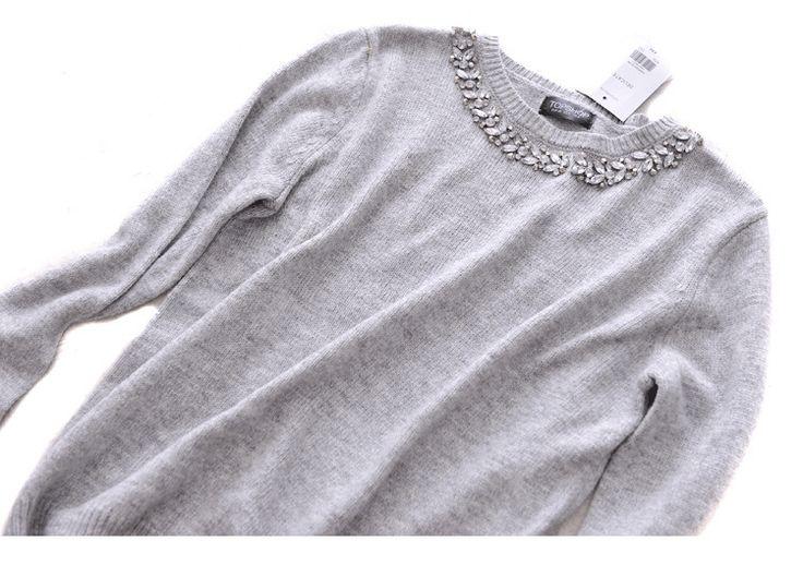 Новые осенью и зимой одежда с длинными рукавами трикотажные рубашки Тонкий Япония и Южная Корея алмазов свитер женский Хеджирование небольшой участок Модный - Taobao