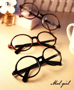 Eyeglasses redondos grandes dos olhos roxos do vintage F13 planície Vidros desobstruídos Freeshipping do