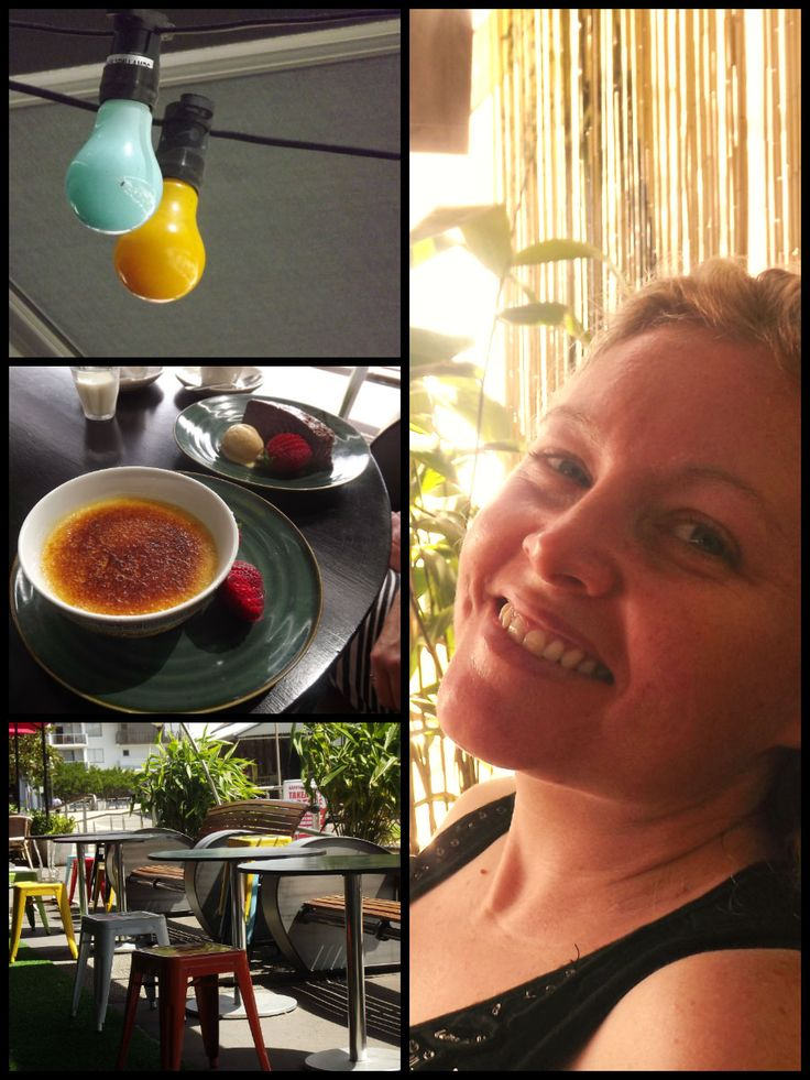 Relaxing at a cafe after the beach. Today Kirsty and I took some time out for ourselves by going to the beach, having a swim and then enjoying tapas on the Honeysuckle foreshore.
