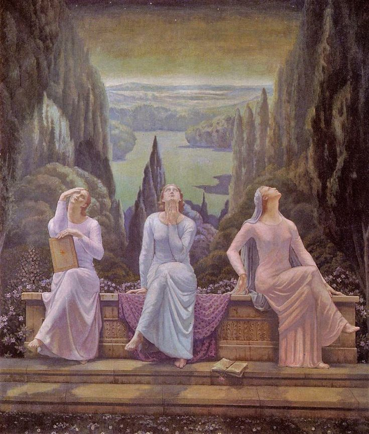 The School of Silence, 1929 by Jean Delville (Belgian, 1867–1953)