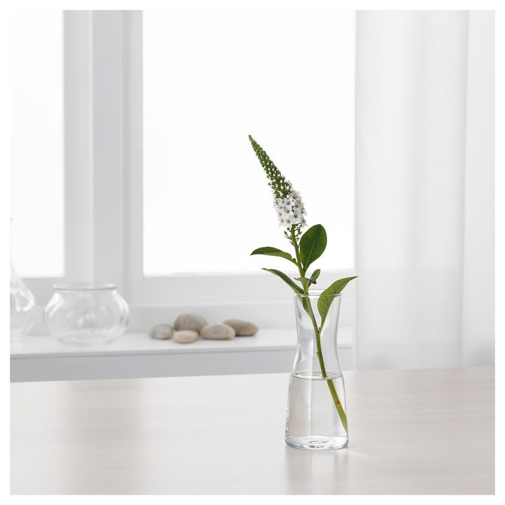 ikea tidvatten vase verre clair deco 2019 en 2019. Black Bedroom Furniture Sets. Home Design Ideas