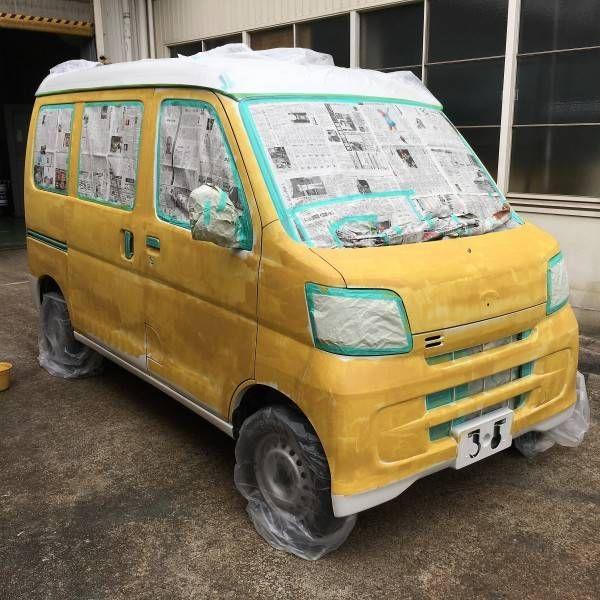 車の全塗装に挑戦 Diyer S リノベと暮らしとdiy 2021 ミニキャブ カスタム 車 塗装 Diy 車