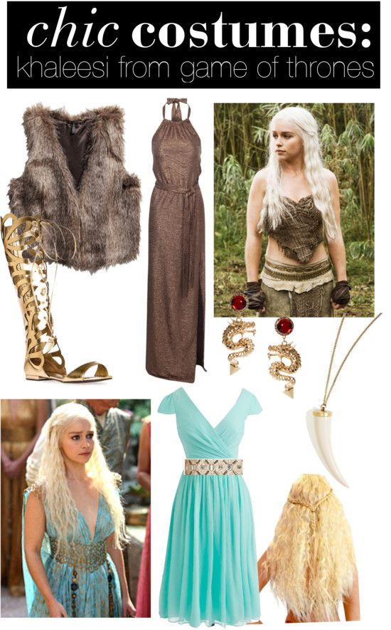 Chic #DIY #Halloween Costumes // Khaleesi from Game of Thrones - See more ideas on La Petite Fashionista! http://lapetitefashionista.blogspot.com/2013/10/chic-diy-halloween-costumes.html