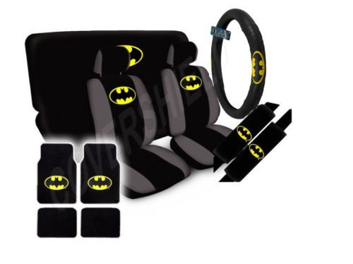DC Comics Batman The Dark Knight Seat Covers Floor Mats Car SUV Truck Van   eBay