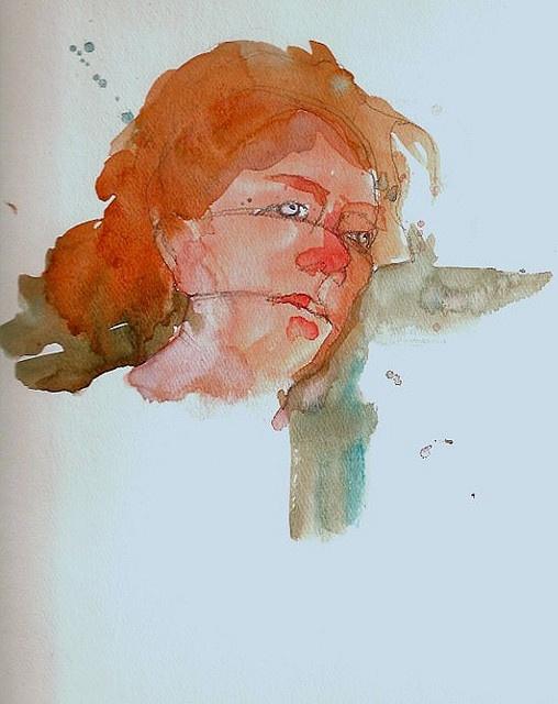Watercolor Painting   Portrait In The Charles Reid Style By Steve  Penberthy, Via Flickr