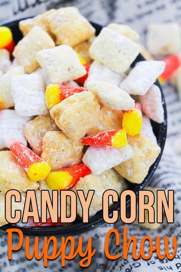 Easy Candy Corn Puppy Chow Recipe With Images Chex Mix Recipes Puppy Chow Chex Mix Recipe Puppy Chow Recipes