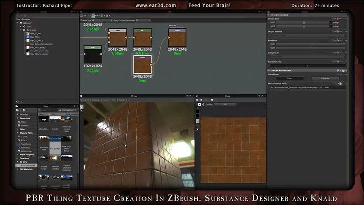 PBR Черепица Создание текстуры в ZBrush, Substance Designer и Knald на Vimeo