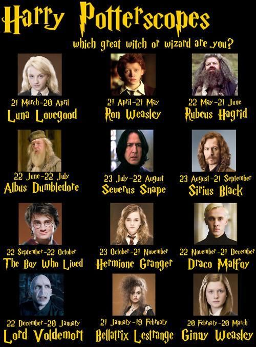 So much better than the real horoscope signs... And I'm Ginny<3