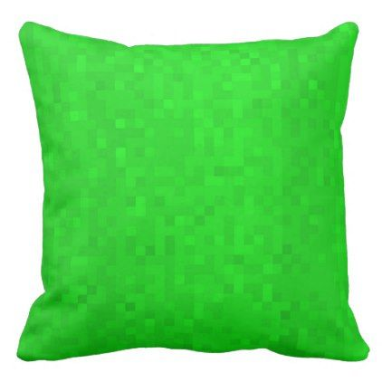 Hot Green Mosaic Tiles Pattern Big Throw Cushion. Throw Pillow - personalize cyo diy design unique