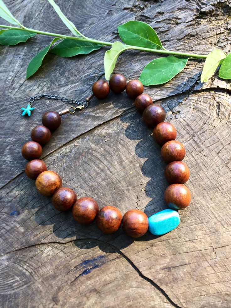 Boho wooden necklace, tribal necklace, tribal statement choker, ethnic necklace, gift for her, uk seller, uk shop, bohemian jewellery by YouHadMeAtBoho on Etsy https://www.etsy.com/uk/listing/529752970/boho-wooden-necklace-tribal-necklace