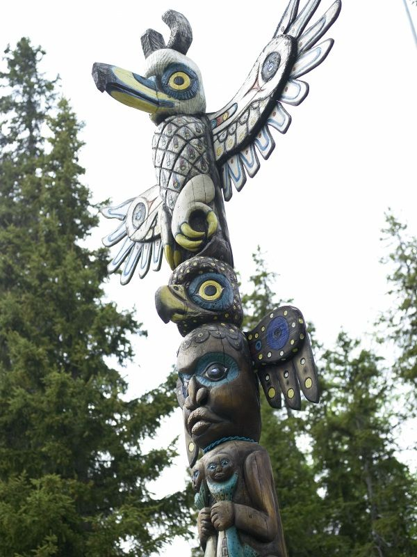Totem Bight State Park in Ketchikan, Alaska.